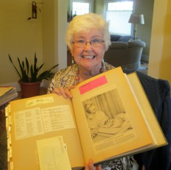 Mona Humpert, our branch Historian, discovers a photo of her printed in the Napa Register when she was our branch president from 1965-1967.